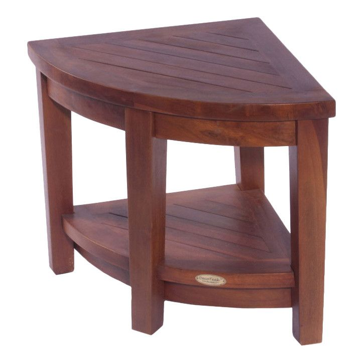 Found it at Wayfair - Classic Teak Corner Spa Shower Chair