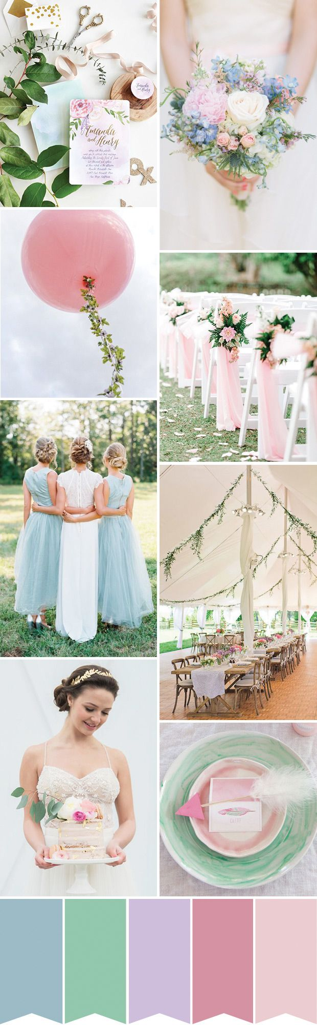 Whimsical Pastel Wedding Inspiration // www.onefabday.com