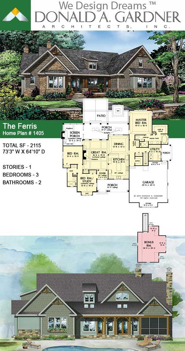 The Ferris House Plan 1405 In 2020 New House Plans Craftsman House Plans Best House Plans