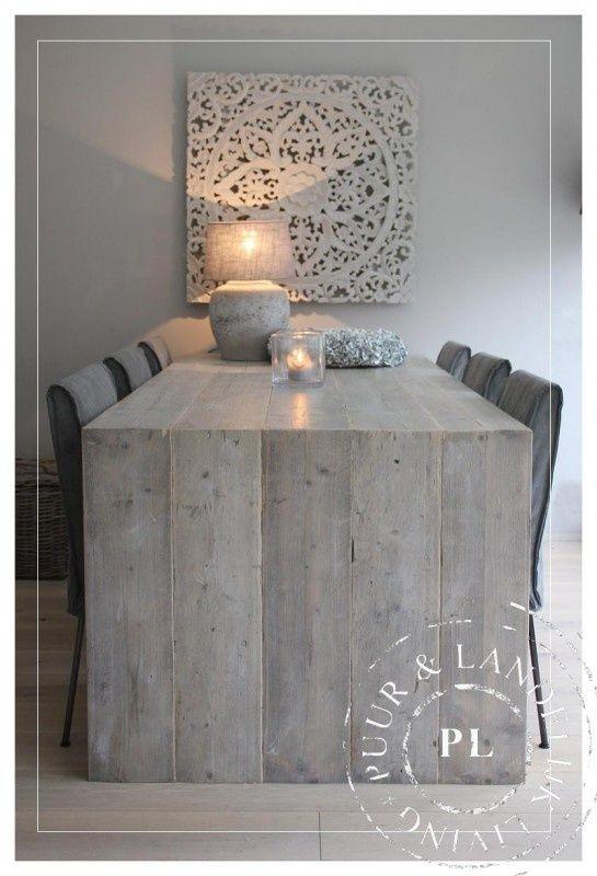 Mesa de comerdor de palets mesas y mesas auxiliares de - Mesa de palets ...
