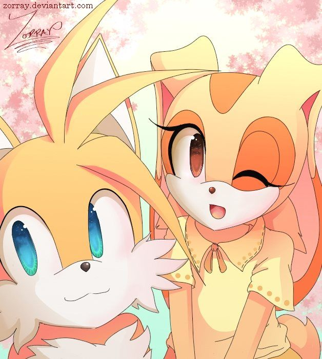 Tails and Cream by Zorray on DeviantArt