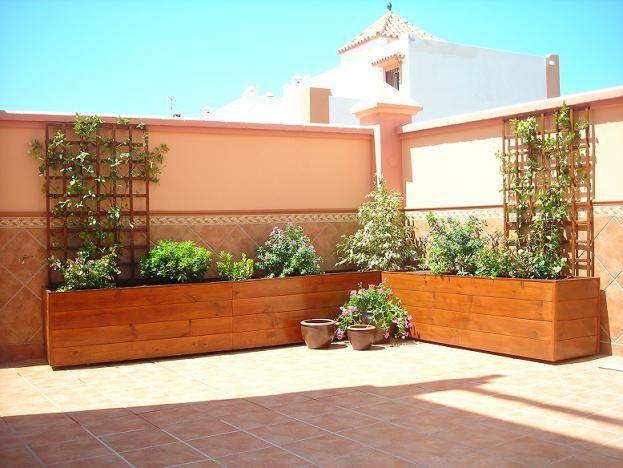 jardinera madera terraza
