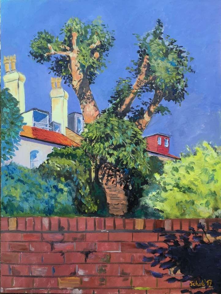 In my garden- 80x60cm, oil on canvas