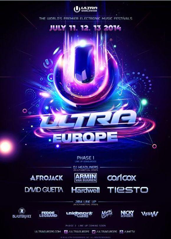 Ultra Europe Ultra Music Festival Croatia 2014 Line Up