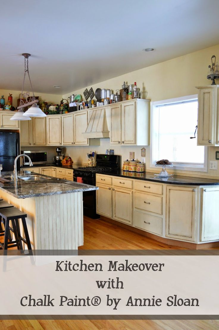Chalk Paint by Annie Sloan Kitchen Makeover...no new cabinets necessary {A Few Miner Adjustments}
