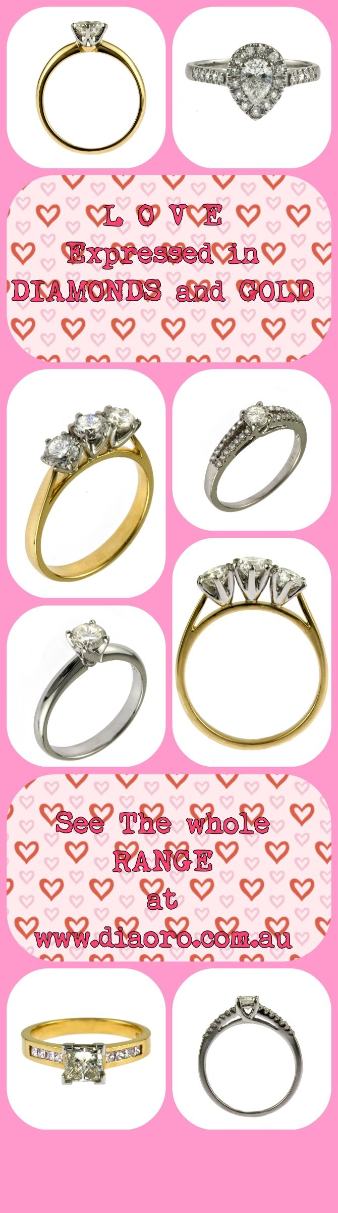 61 best Dia Oro Engagement Rings images on Pinterest | Au ...