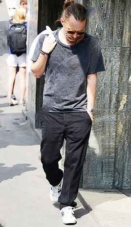 Thom Yorke of Radiohead out shopping in Milan, 19 Jul 2013