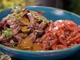 Cuban Skirt Steak with Tomato Escabeche and Mango Steak Sauce - Bobby Flay BBQ Addiction