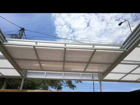 ¿Cómo hacer un techo corredizo de policarbonato? - YouTube