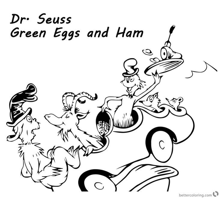 Dr Seuss Coloring Pages Green Eggs And