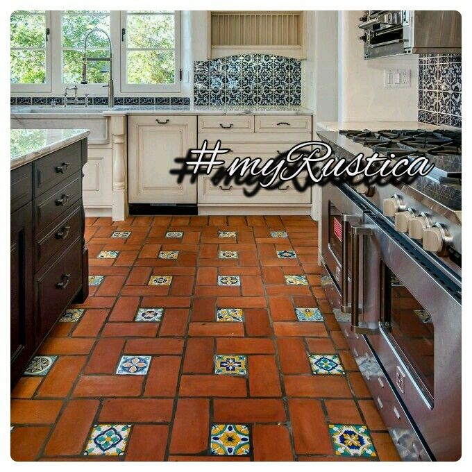 Kitchen Tiles Handmade rustic floor tiles handmade in mexico of red clay for decorating