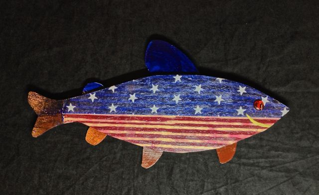 1000 images about fish art on pinterest for American flag fish