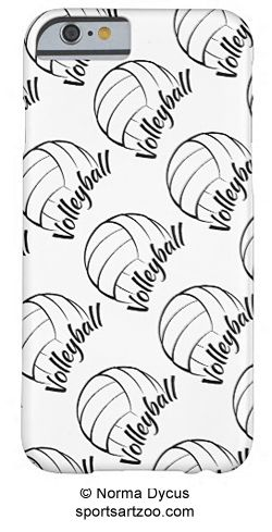 Volleyball Fun Barely There iPhone 6 Case by SportsArtZoo