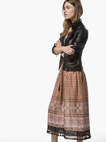 FALDA ESTAMPADA - Vestidos & Faldas - WOMEN - Massimo Dutti AW 2015