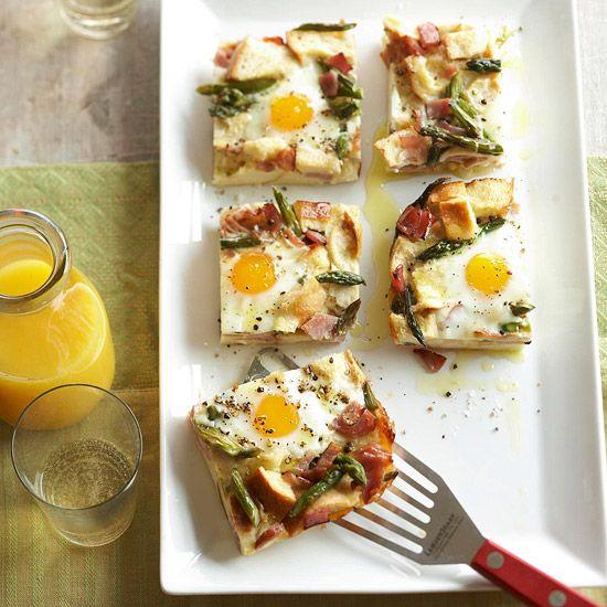 Ham-Asparagus-and-Cheese Strata