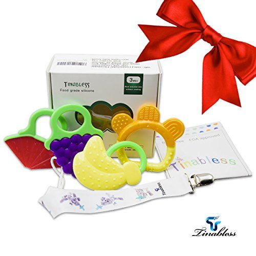 Baby Teething Toy Tinabless BPA Free Natural Organic Safe Soft Teething Rings KeySet for 3 to 12 months Babies Infants and Toddlers 4 Pack *** Check this awesome product by going to the link at the image.Note:It is affiliate link to Amazon.