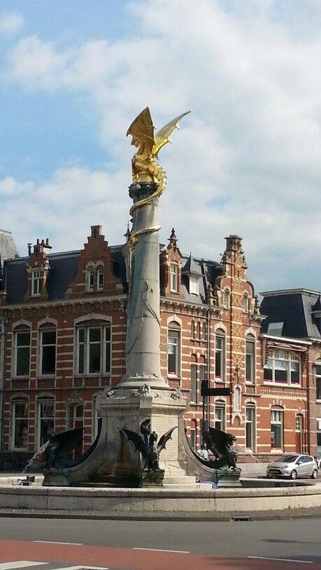 Dragonfountain at the Station of Den Bosch/'s Hertogenbosch.  The Netherlands