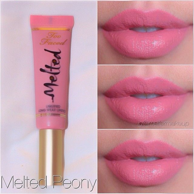 Too Faced Melted Liquified Long Wear Lipstick - Melted Peony ✔️✔️✔️