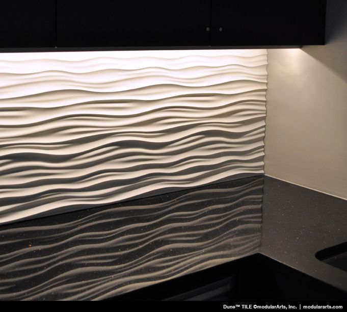 Idea for dining room wall sculptural wall tile from for Dining room tile designs