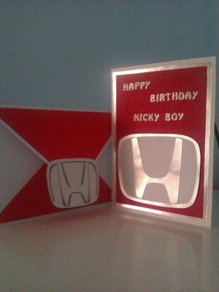 Honda Fan Birthday Card My Creations Birthday Hubby