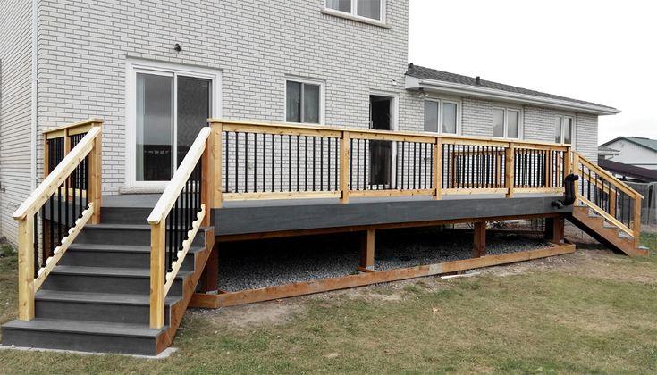 Cedar Rail Composite Deck Gardening Deck Builders