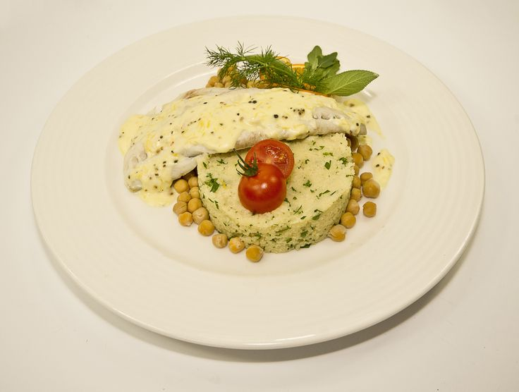 Spiced fish with chickpeas, African cuisine, August