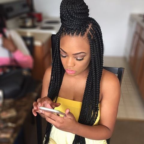 STYLIST FEATURE| Love these #boxbraids styled by #DetroitStylist @touchedbykay_ Beautiful #voiceofhair