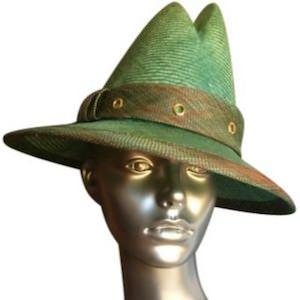 Donna Hartley Green Straw Hat