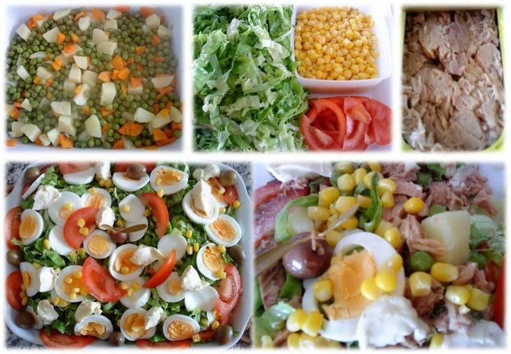 Salada Russa com Atum e Maionese