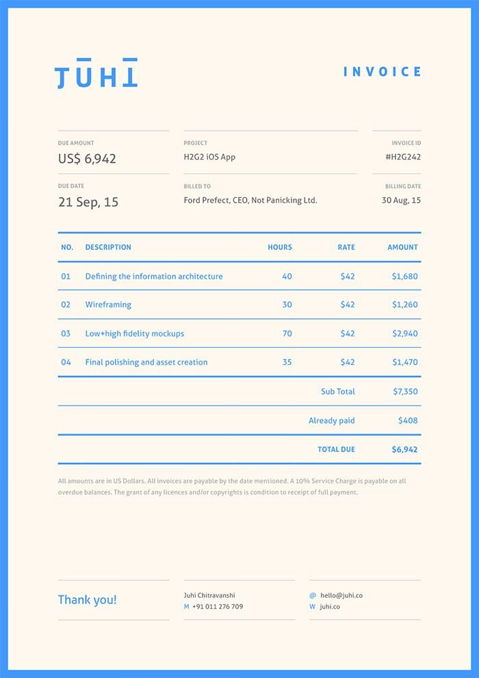 The 24 best images about 017 on Pinterest - invoice designs