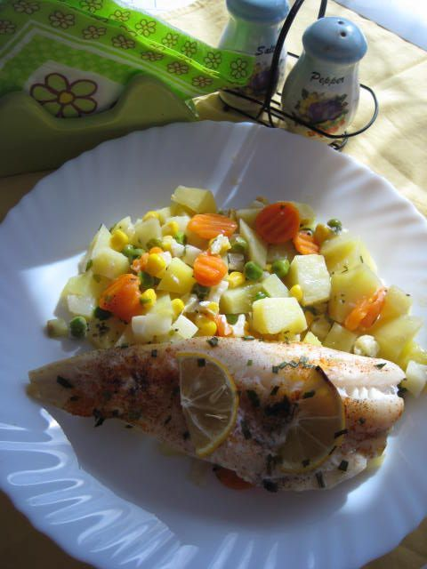 Fotorecept: Treska na zelenine