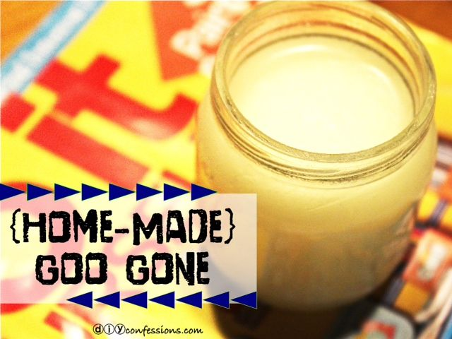 Goo Gone  1 part Baking Soda  2 parts Vegetable Oil  1. Stir together until paste is formed  2. Use your fingers, paper towel or cloth to apply.  3. Let sit for approx. 2 mins for best results.    4. Work mixture into residue until residue is gone.  5. Wipe off with warm water.