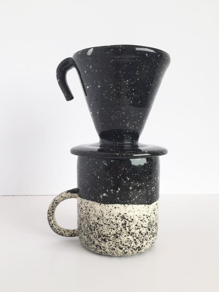 WITTMORE — BTW Ceramics — BTW Ceramics Black Speckled Ceramic Pour Over
