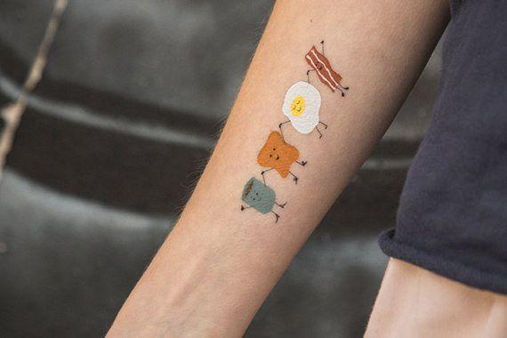 Et pour les fanatiques du petit déjeuner : | Community Post: 16 tatouages temporaires pour tous les indécis