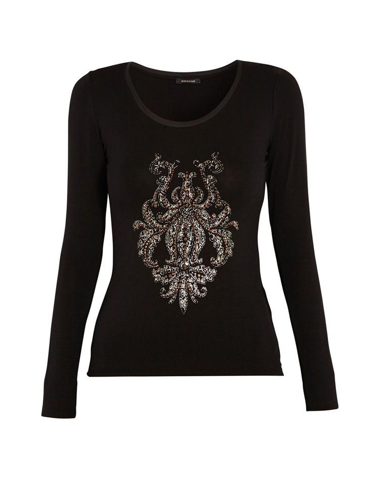 T-shirt sérigraphie et perles #MORGANDETOI #GOLD