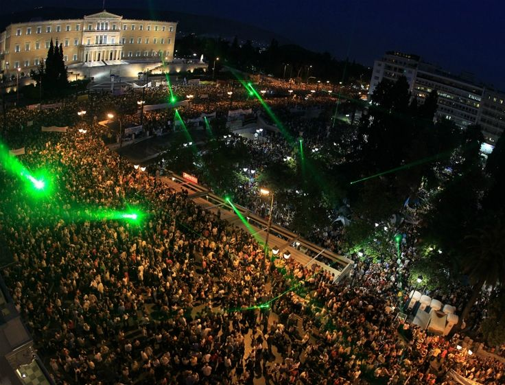 Athens Syntagma square, the square's movement