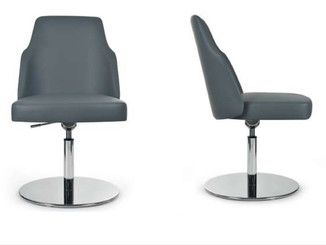 Swivel upholstered height-adjustable chair MIA ROUND | Swivel chair