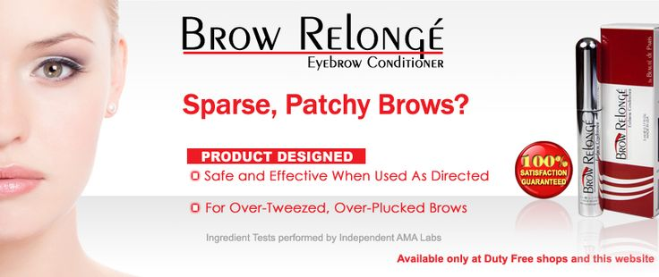 Over tweezed your brows? Get fuller thicker looking eyebrows with Brow Relonge brow conditioner