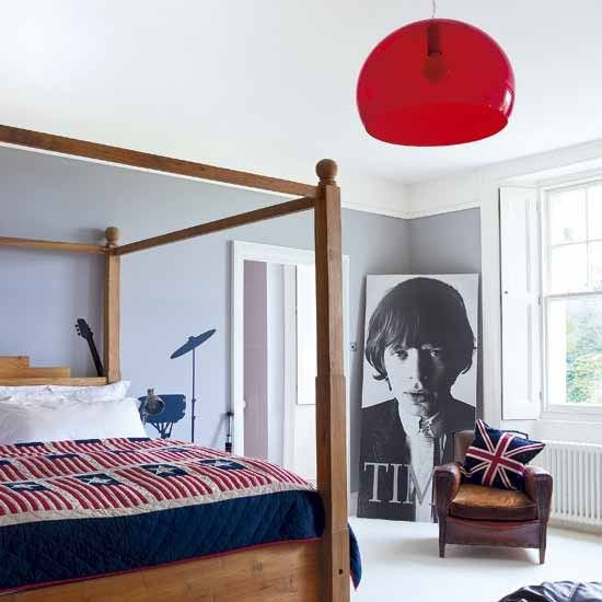 Modern retro bedroom | Bedroom ideas | Four-poster bed | Image | Housetohome.co.uk