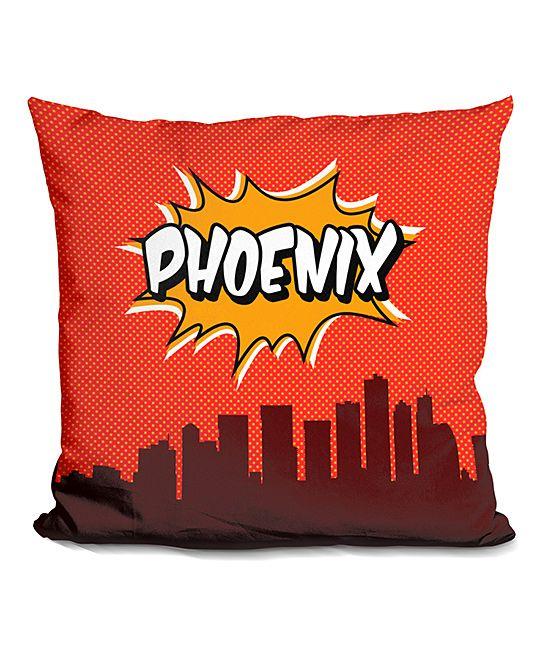 Octavian Mielu 'Phoenix' Skyline Throw Pillow