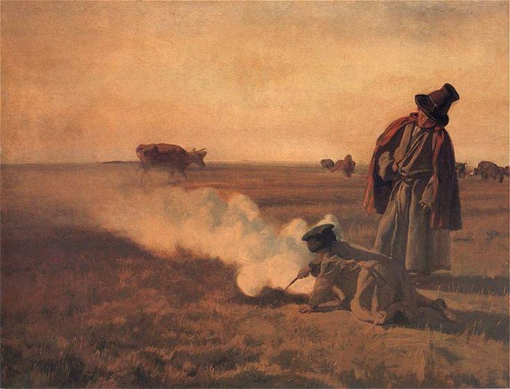 Jesien..Józef Chełmoński   1849 - . 1914