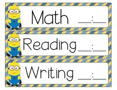 Minion Classroom Decor Pack - 54 pages