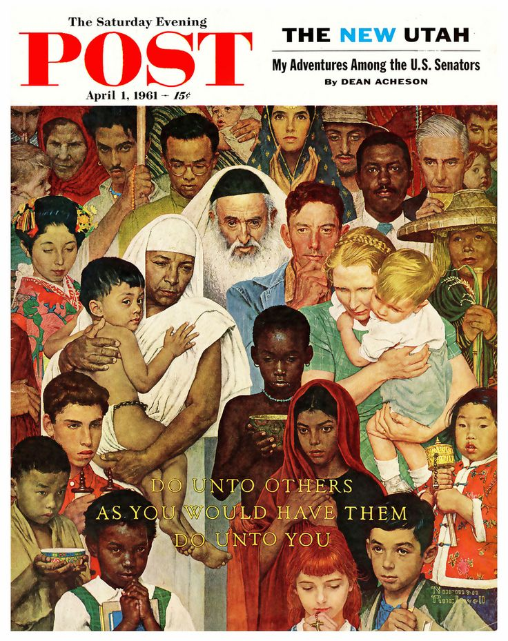 'The Golden Rule'- Norman Rockwell   1961  Awesome!!