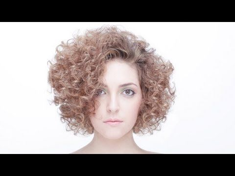 how to cut curly hair youtube