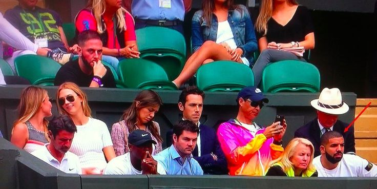 Of Course Drake Was At The Venus-Serena Wimbledon Match