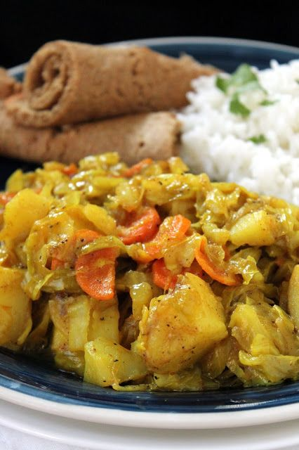 Tikel Gomen : Ethiopian Cabbage Dish . A one pot meal that features veggies as the main dish? You have to try it! #vegan #vegetarian
