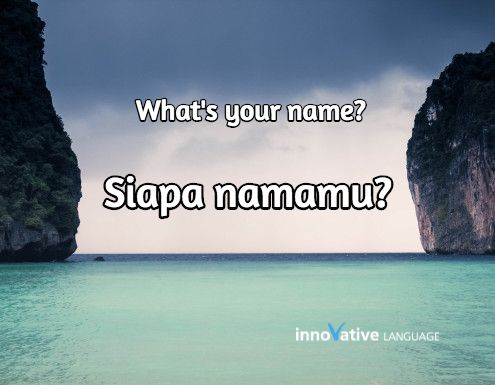 Siapa namamu? is What's your name? in Indonesian. Click here to get FREE audio by a native speaker: http://www.indonesianpod101.com/indonesian-vocabulary-lists/top-15-questions-you-should-know-for-conversations #indonesian #learnIndonesian #indonesianpod101 #Indonesia