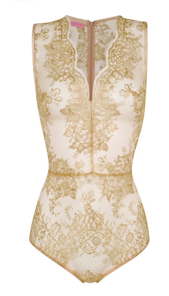 #gold #lace body by Gilda & Pearl. Coming to Selfridges Christmas 2014.