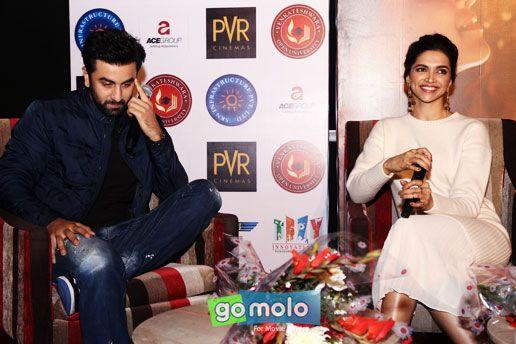 Ranbir Kapoor & Deepika Padukone at the Press meet of Hindi movie 'Tamasha' in New Delhi