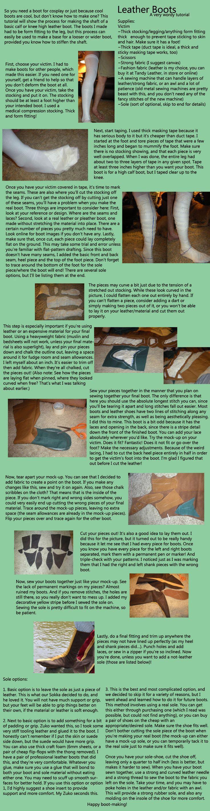Leather Boot Tutorial by HarmonicCosplay.deviantart.com on @deviantART